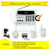 Personal security Equipment PSTN telephone line home intruder alarm set with wireless PIR sensors