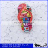 Slippers Shaped Acrylic Fridge Magnet With Clip