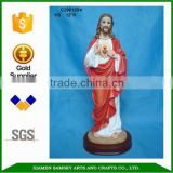 Resin religious statues sacred heart jesus statues