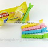 cartoon type plastic bag closure clip