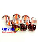 3mm Orange artificial CZ zircon stone for female wedding rings in China factory direct sale
