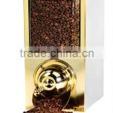 Coffee Bean Dispenser,Coffee Silo Rectangular Shape,Tea Leaves Dispensers,Bulk Dry Food Dispensers for Coffee Beans Brass KBN50