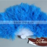 Christmas Occasion Chinese Feather Hand Fans And Turkey Feather Fan For Wedding Decoration