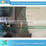 hot bending glass tea table /toughened glass supplier/12mm thick tempered glass