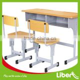 School Students Cheap Children Used Table and Chair For Sale,wooden tables and chairs LE.ZY.001