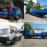 Dong Feng 10 tons lorry truck crane, 10000 kg hiab crane truck, 10 tons hydraulic knuckle crane truck.