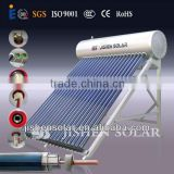 fashionable 150L color steel integrative pressurized solar water heater with three target vacuum tube