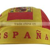Hair bonnet with Spanish Flag colours