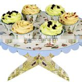 Customized Cardboard Cupcake Stand Corrugated Cardboard Wedding Cake POP Stand