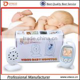 New 2.0inch baby camera monitor IR Night vision 2 way Talk Multi-language 8 Lullabies Temperature monitor VOX system baby phone