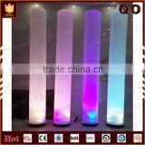 Beautiful colorful inflatable light pillars for wedding hall
