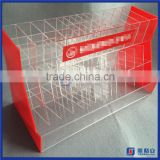 2016 yageli custom made clear and red pen display for bookstore / acrylic pen display stand