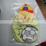 infants & toddlers&children's cotton baby bibs customized embroidered ball logo bib-26 for baby