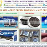 OREA CREAM SANDWICH ICED CREAM TIDA KIM MANUFACTURER DISTRIBUTOR FMCG PRINGELS OREO CHOCOLATE BISCUITS COOKIES MINI KRAFT PACK B