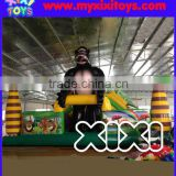 2016 Gorilla jungle inflatable bouncer for kids, amusement park inflatable playground for children