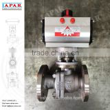 LAPAR Flanged Pneumatic Ball Valve with ACTREG Rack and Pinion Pneumatic Actuator, Motorized Ball Valve