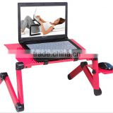 360 Degree Adjustable Portable folding laptop table stand smart lapdesk vented stand bed sofa tray With mouse pad