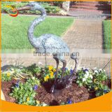 Bronze Heron Sculpture Heron Fountain Statue Statue Outdoor Playground Animal Sculpture Bronze Animal Garden Sculptures