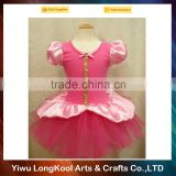Hot sale luxury birthday tutu dress for kids pink tulle ballet tutu dress