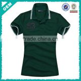 Embroidery Fitted Polo Shirts For Women (lyt-060057)
