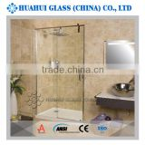 hinged shower door clear tempered glass pannels for bathroom CE ANSI approved 6mm 8mm 10mm