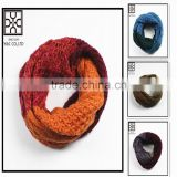 2015 New design Acrylic Knitted Infinity Scarf
