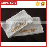 C1186 White 16s looped pile soft 100% cotton satin embroidery logo hotel towel face towel
