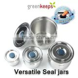 [greenkeeps]Versatile sealed jar/Kimchi / Side dish / tea / pot / sugar / spice / jar / Stainless