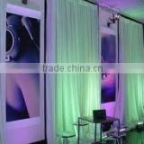 telescopic cross bars fashinable wedding pipe and drape,pipe and drape wedding backdrop,used pipe and drape for sale