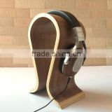 Wooden headphone holder, .headphone display rack