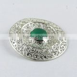 Exotic !! Filigree Green Onyx 925 Sterling Silver Pendant, 925 Sterling Silver Jewellery, Online Silver Jewellery