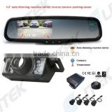 2-in-1 car parking sensor camera system,Car parking sensor with reverse camera, Rearview mirror option