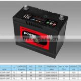 dry charged car battery for korean/rocket/japan