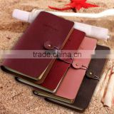 Vintage Classic Retro Journal Travel Leather Notepad Notebook Blank Diary Memo Lovers 1+1 Notebook 60 sheets