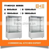 Competitive Prices Commercial Free Standing Glass Modern Bakery Cake Showcase Cake Freezer Cake Display Cabinet