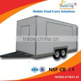 Best Quality Fiberglass Mobile Snack food cart/Mobile fast food truck/breakfast trailer for sale