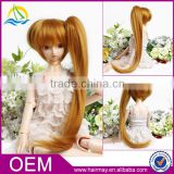 Guangdong factory cheap synthetic doll hair wigs golden long baby doll wigs
