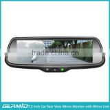7.3 inch full display car rear view mirror with smart phone, voice, image synchronization, mirror link function, reverse camera