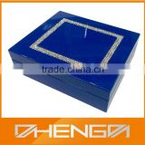 HOT SALE Factory Price custom made-in-china handmade blue piano lacquered wooden promotional chocolate boxes (ZDS-SJF023)
