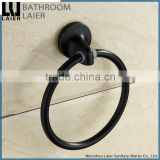 1932 American style hot sale zinc alloy black bathroom fittings names wall mount towel ring