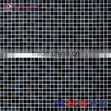 Black Glass Mosaic Tiles for Hotel Projects/Nightclub Decor/Toilet Floor Tiles/Outdoor Wall Tiles