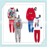 Children Clothing Sets Baby boy's pajamas suits Girls Clothing Sets sleepwear spiderman pajamas cotton shirts+trousers