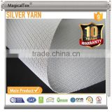 Polyester Fire Retardant Curtain Silver Coated Blackout Fabric