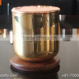 New design factory made brand logo brass copper candle cup