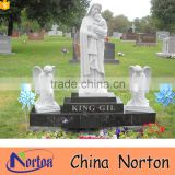Wholesale carved angel cheap price for tombstones statue NTGT-432A