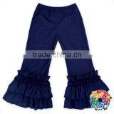 Navy Blue Elastic Denim Jeans Pants Kids To China Wholesale Girls Ruffle Pants