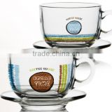 4oz 6oz glass coffee mug with saucer glass coffee cup set clear glass irish coffee cup