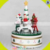 wholesale baby wooden carousel horse music top fashion kids wooden carousel horse music box W07B011C