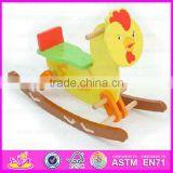 2015 Newest mechanical horse toy for kids,Children design wooden rocking horse,Excellent child wooden rocking horse toy WJY-8008