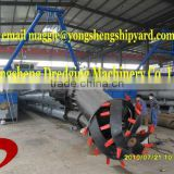 pump suction dredging vessel with hydraulic system